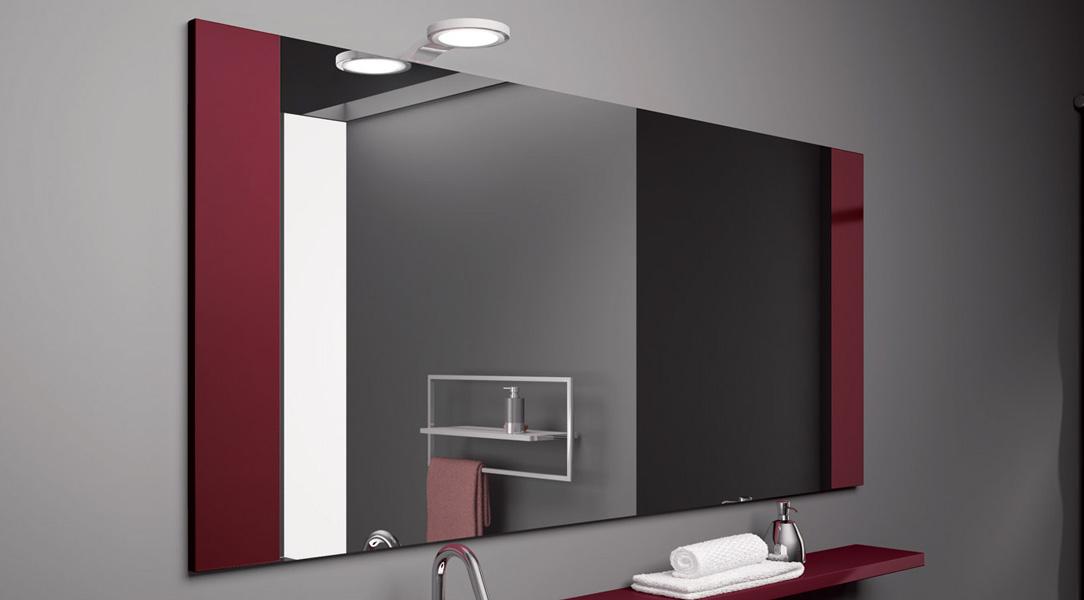 specchiera moderno con lampada