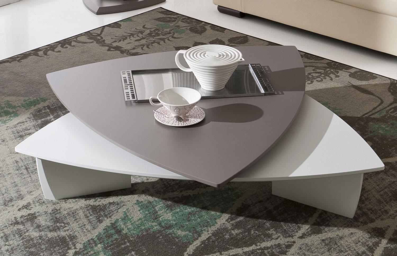 Tavolino triangolare girevole da soggiorno