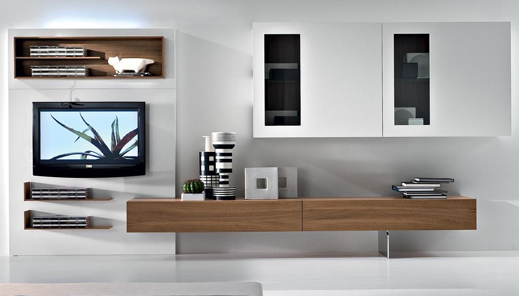 soggiorno design in legno a parete bova