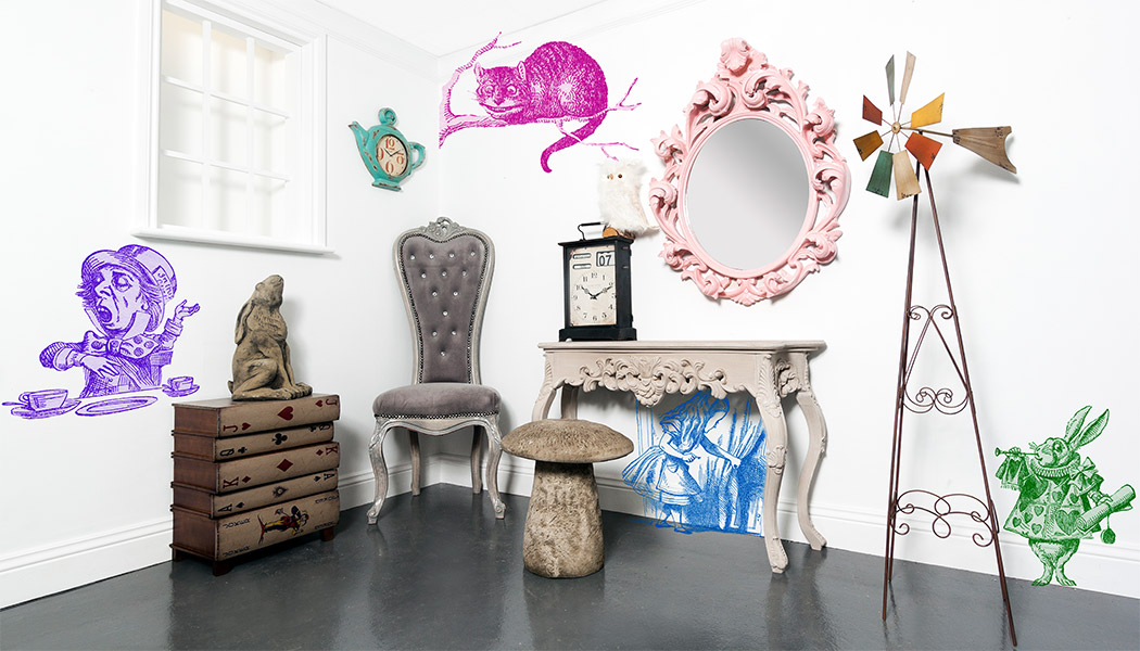 alice in wonderland arredo